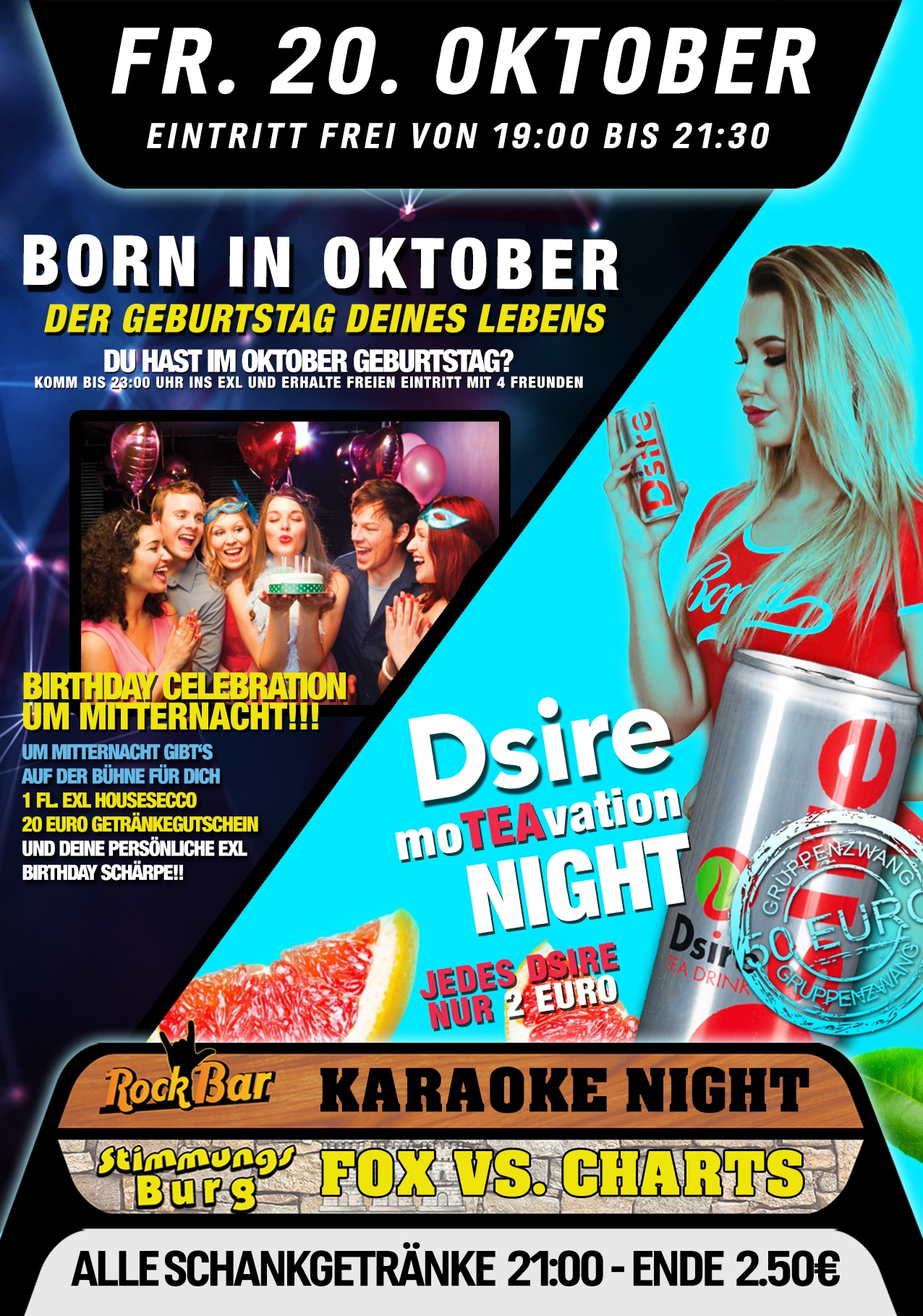 Born in Oktober + Dsire Moteavation Night