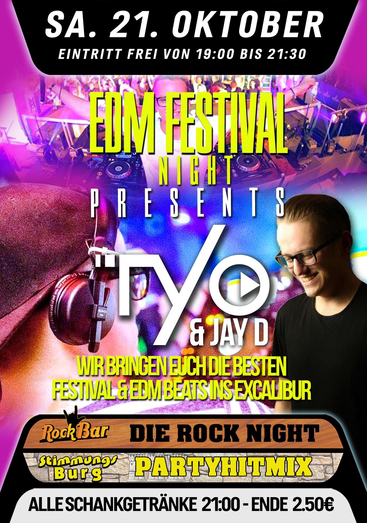 EDM Festival Night mit TYO & JAY D