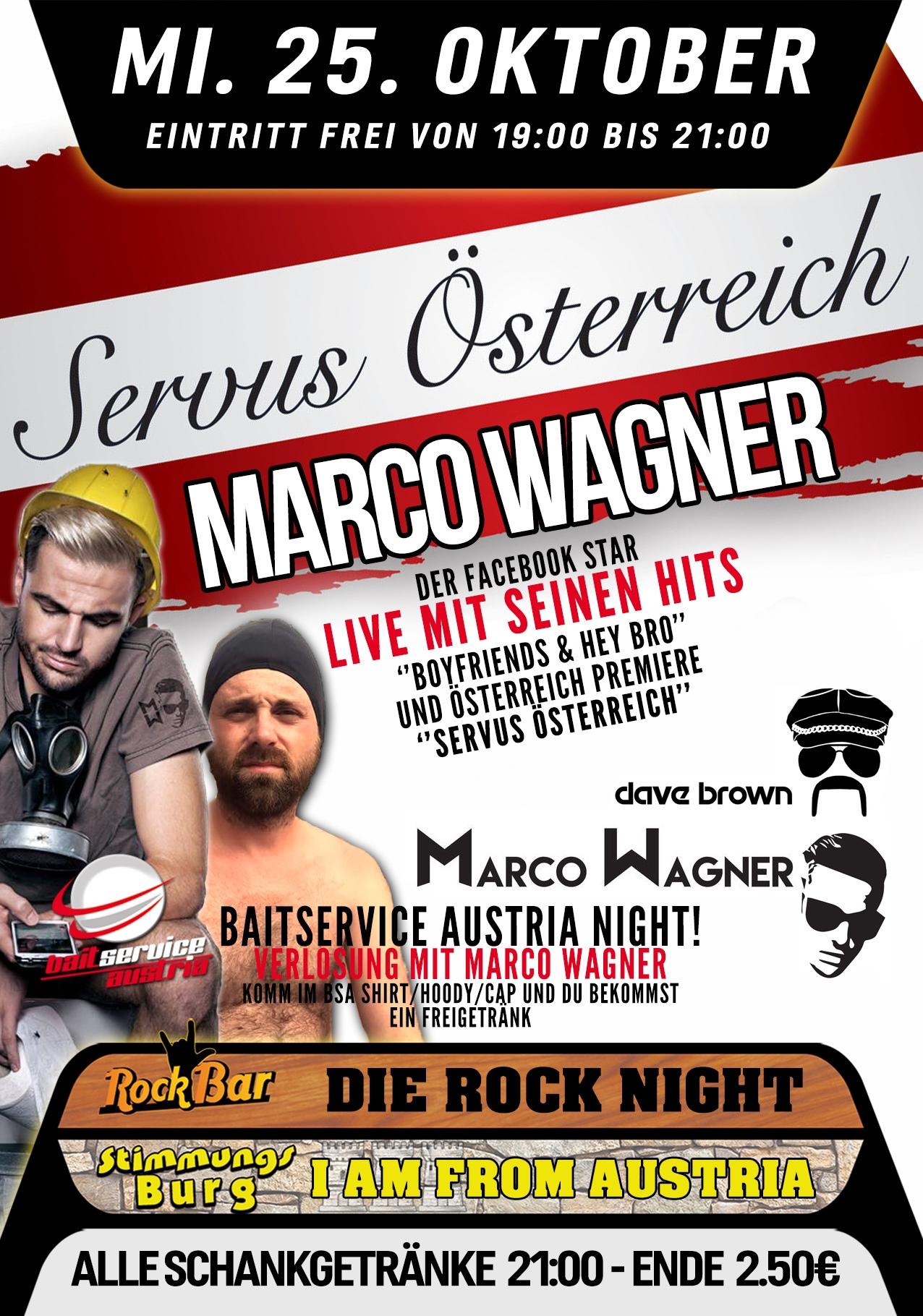 Marco Wagner & Dave Brown Live! Österreich Premiere - Servus Österreich!