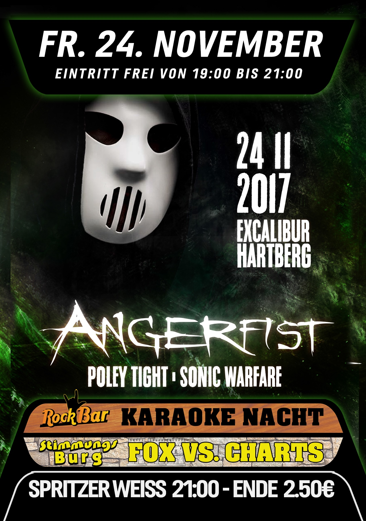 ANGERFIST LIVE! /w Poley Tight & Sonic Warfare