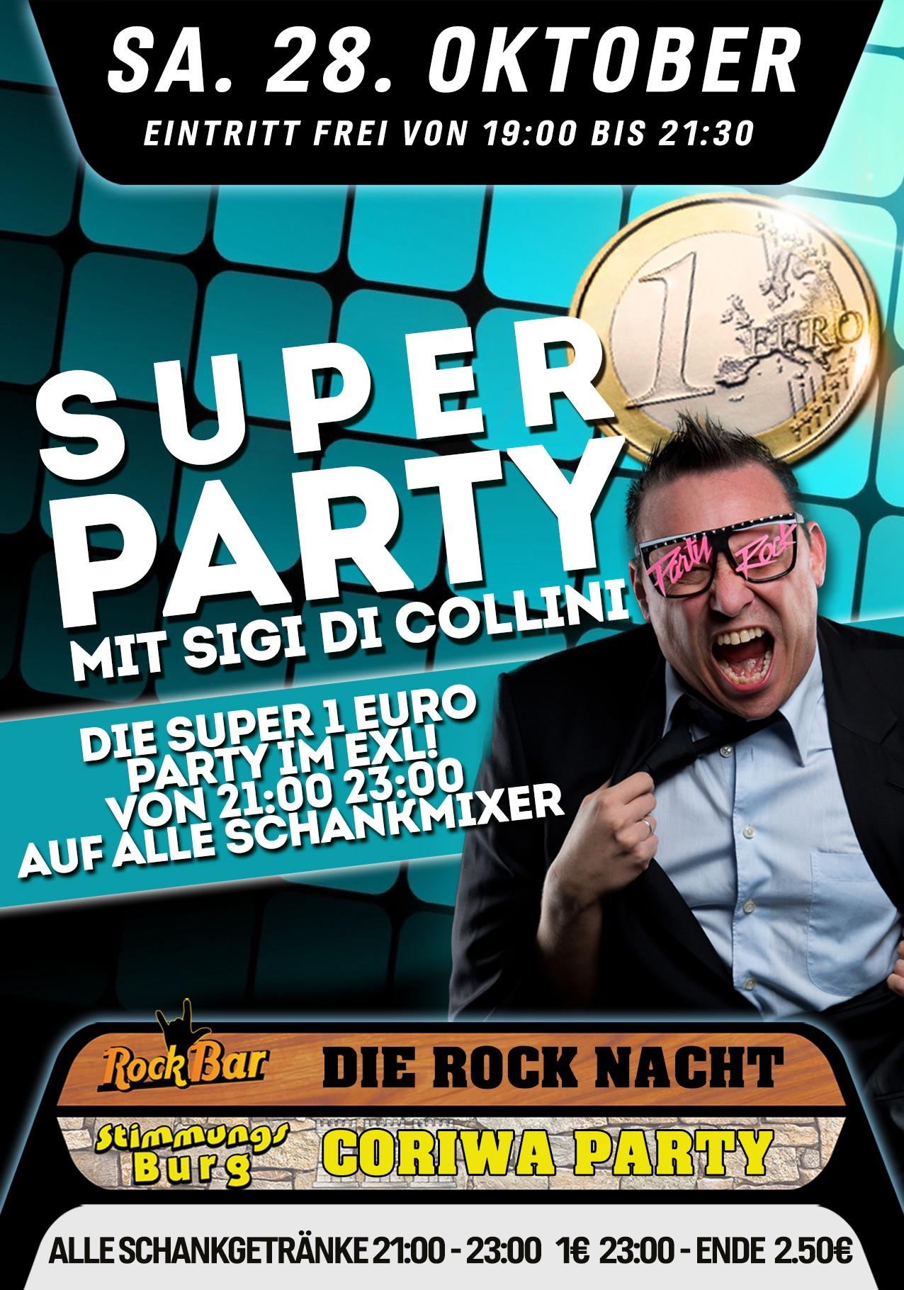 Super 1€ Party mit Sigi di Collini