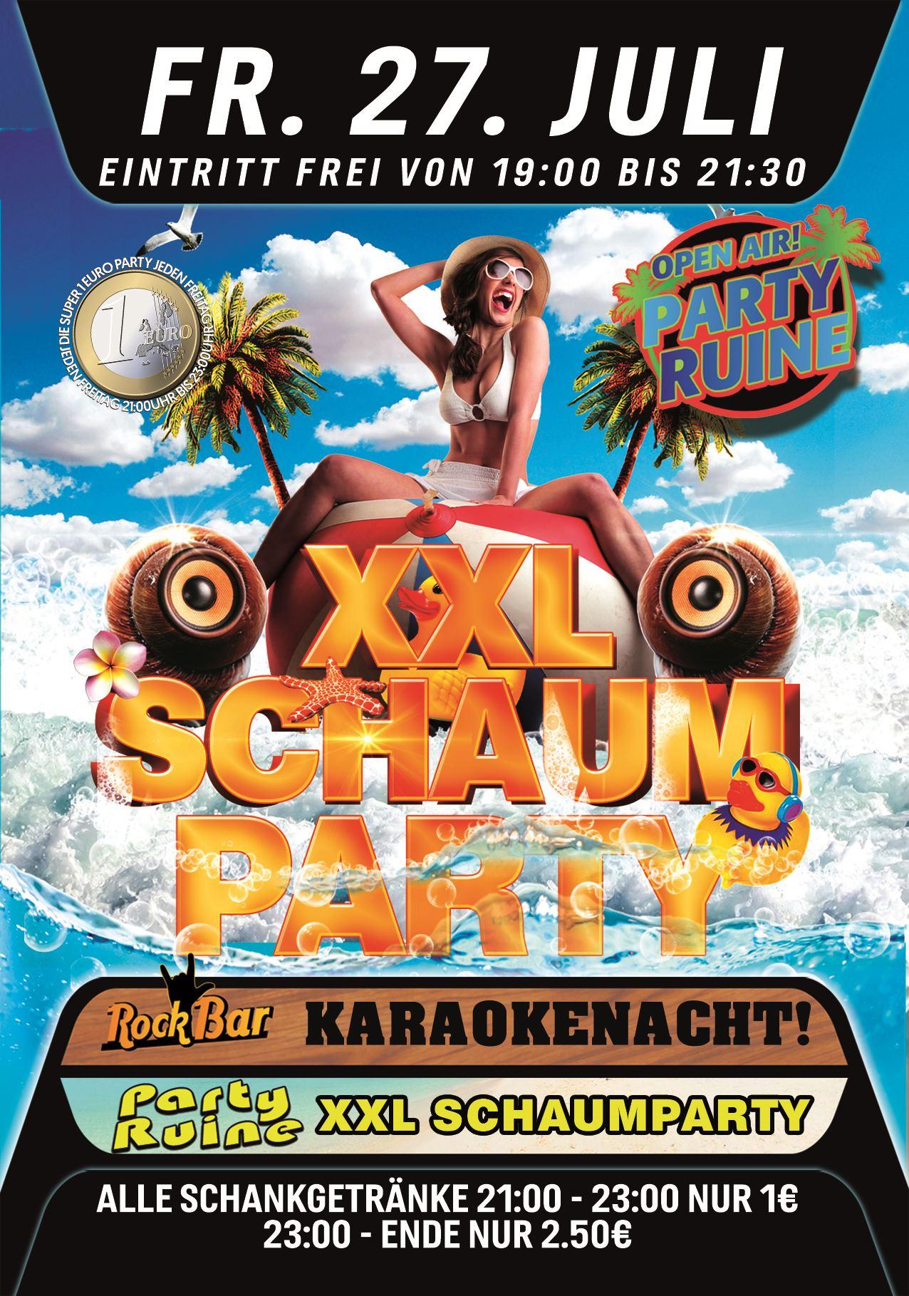 XXL SCHAUMPARTY!