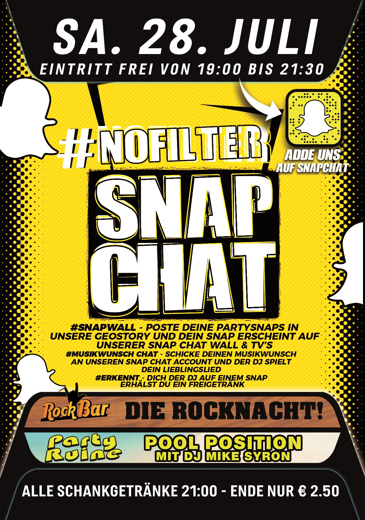 #NOFILTER - Die Snap Chat Party
