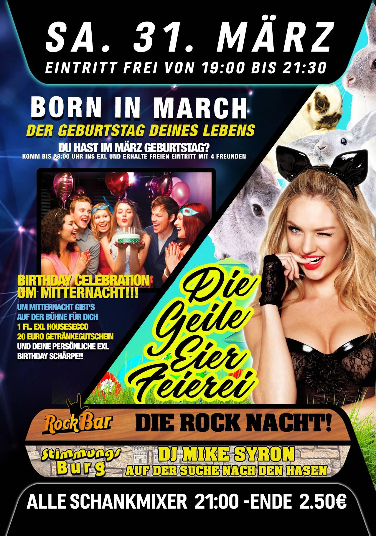 Born in March + Die Geile Eier Feierei