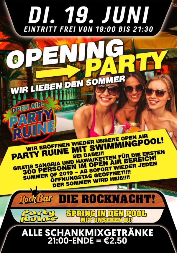 Party Ruine OPENING