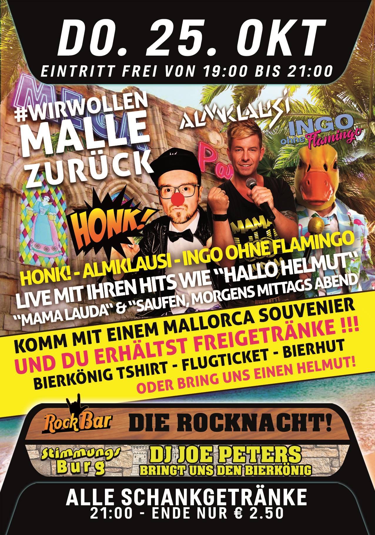 #WIRWOLLENMALLEZURÜCK Honk! - Almlklausi & Ingo ohne Flamingo LIVE!