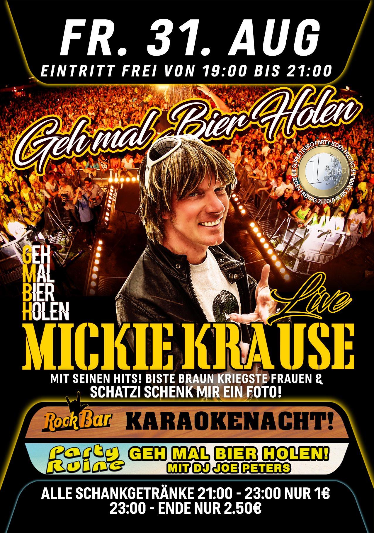 Mickie Krause Live! Mit seinem Hit Schatzi Schenk mir ein Foto!