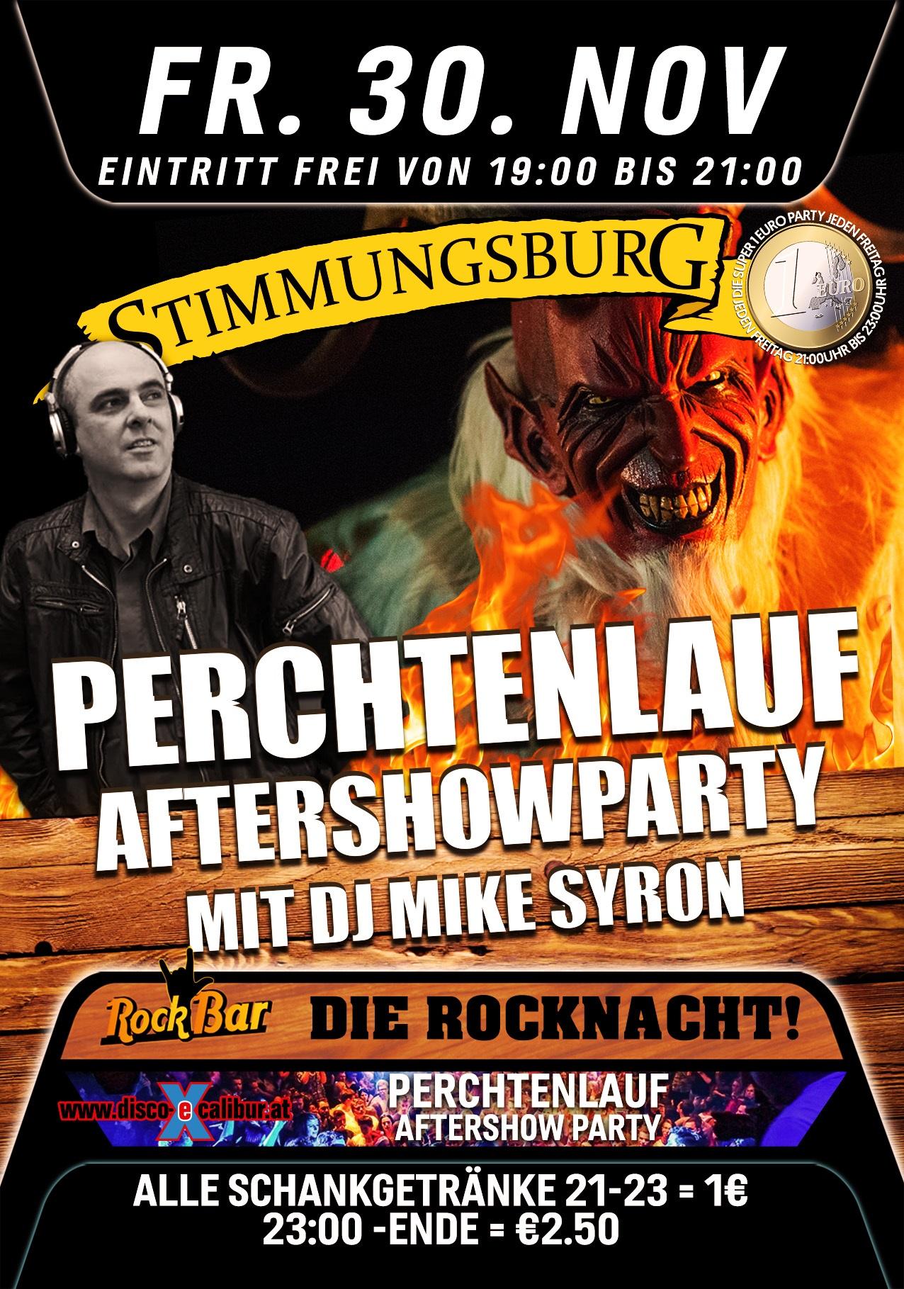 Perchtenlauf Aftershow Party mit DJ Mike Syron