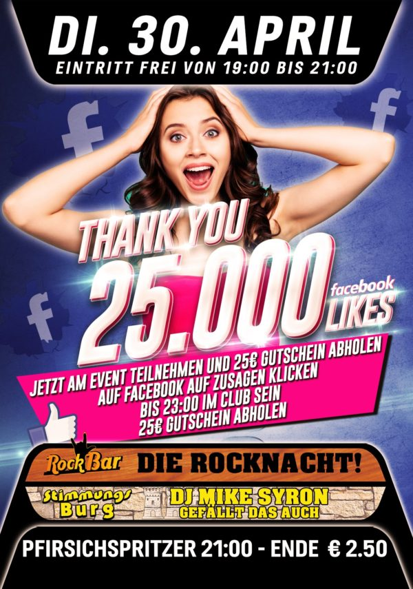 25.000 Likes! Thank You!