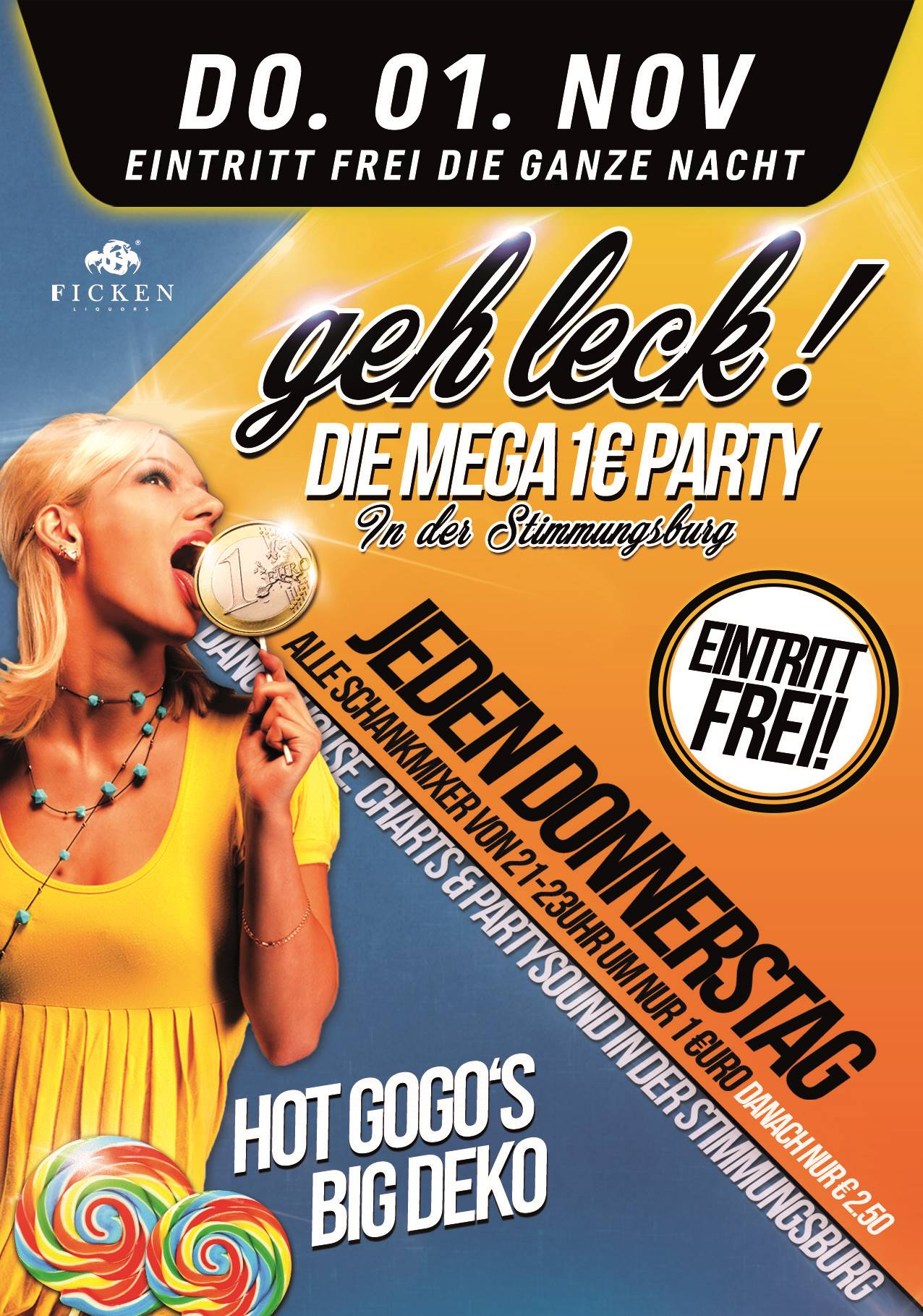 Geh Leck! Die Mega 1€ Party