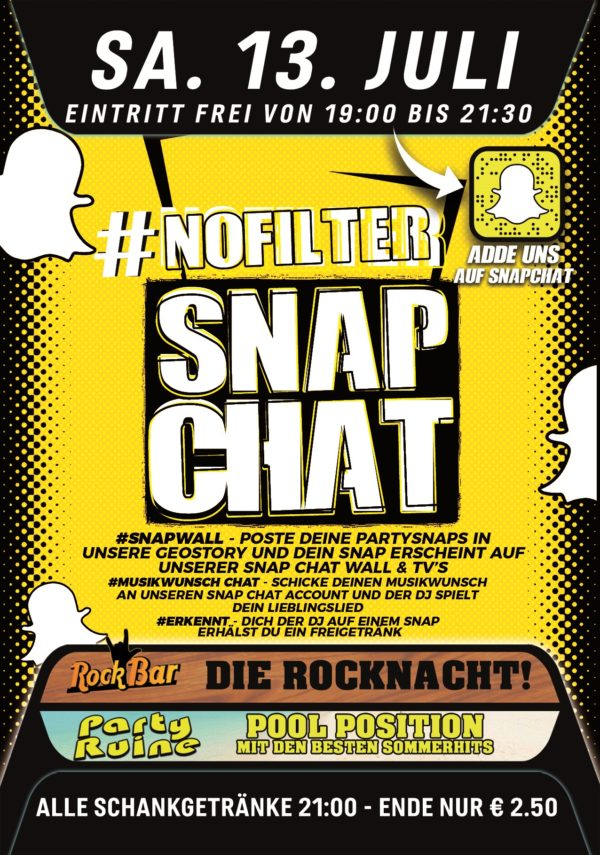 #Nofilter – Snapchat Party