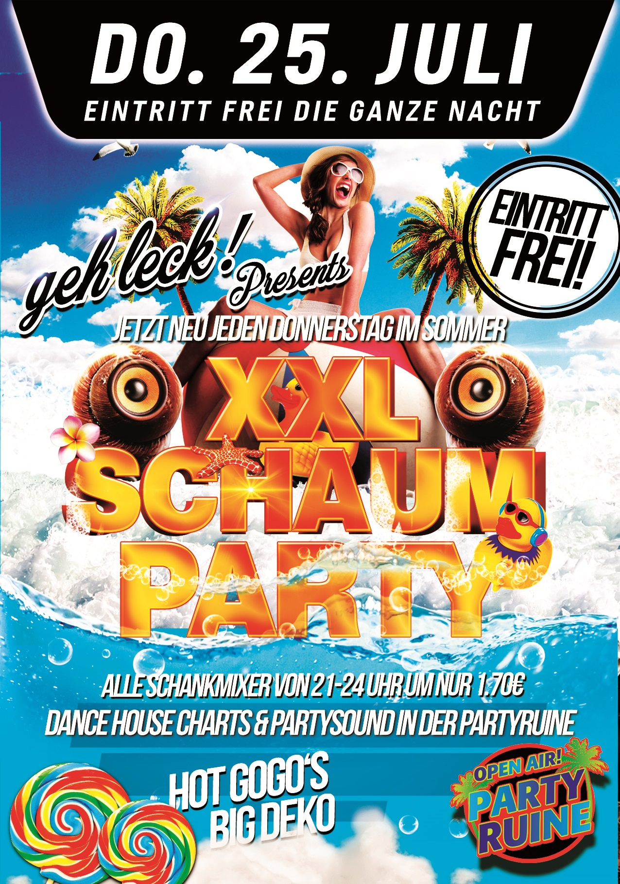 XXl Schaumparty