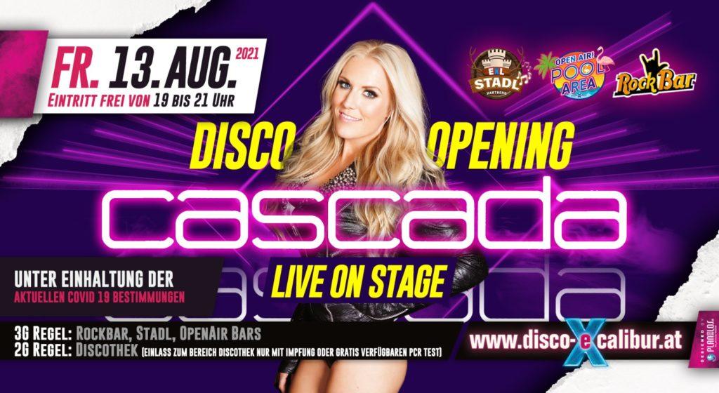 Disco Opening mit CASCADA